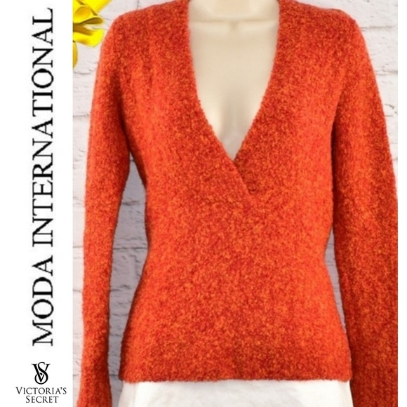 Moda International Sweaters - Boucle V-Neck Sweater from Victoria's Secret